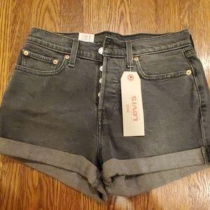 Levi's Wedgie Fit Black Denim shorts